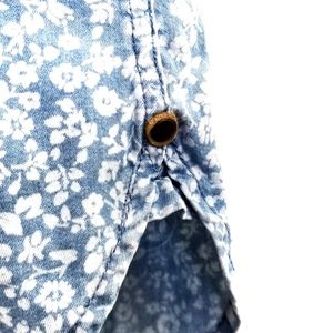 Garment Makers Shirts - Designer Floral Print White/Blue Dress Shirt